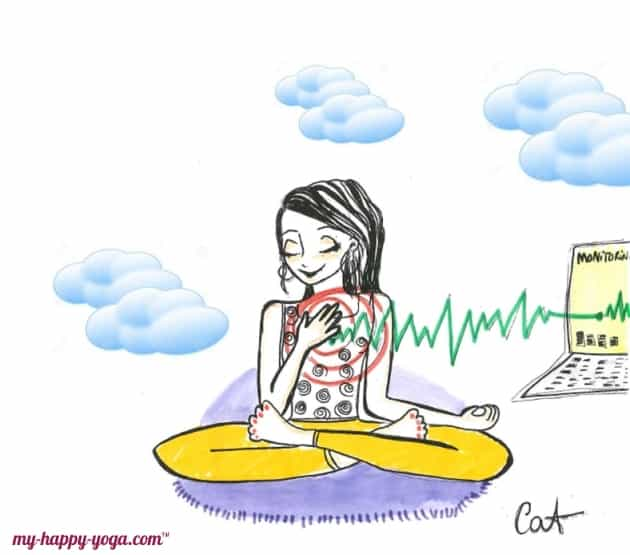 jeune femme qui teste la cohérence cardiaque