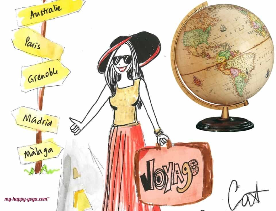 femme qui fait du stop pour voyager