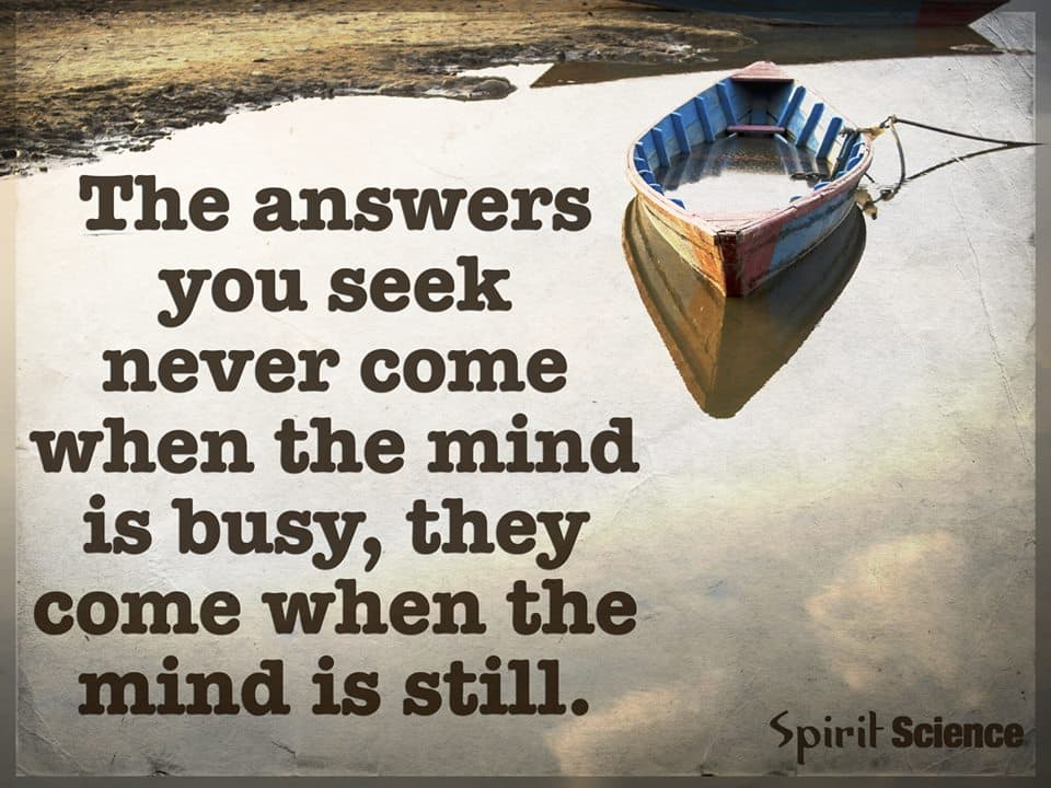 méditer the answers you seek never come when the mind is busy, they come when the mind is still